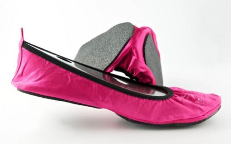 Fit In Clouds Foldable Shoes - Pretty Pink
