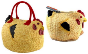 Rubber Chicken Bag and Coin Purse